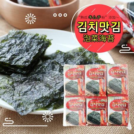 韓國JAEWON激安殿堂泡菜口味海苔(4gx12包)48g泡菜海苔海苔海苔片韓式泡菜韓國海苔【N103004】