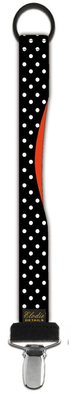 ★衛立兒生活館★瑞典 Elodie Details 艾洛迪  時尚安撫奶嘴鍊夾-搖滾點點