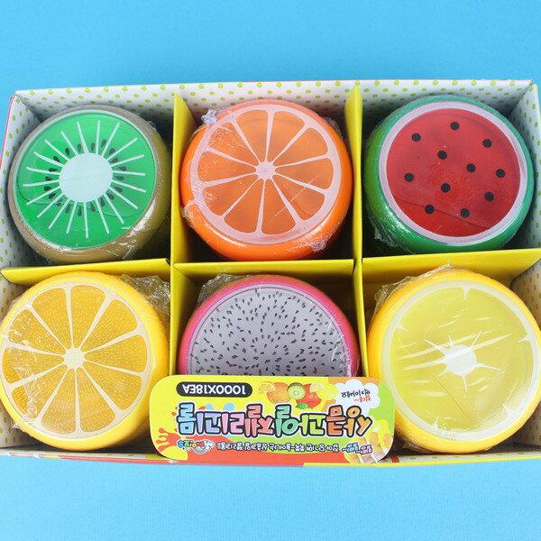 大水果水晶土 水果珠光水晶泥(不沾手)/一套6個入{促20}童玩黏黏土YF13281