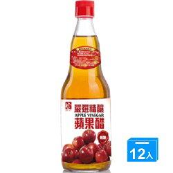 百家珍 嚴選精釀無糖蘋果醋600ml*12【愛買】