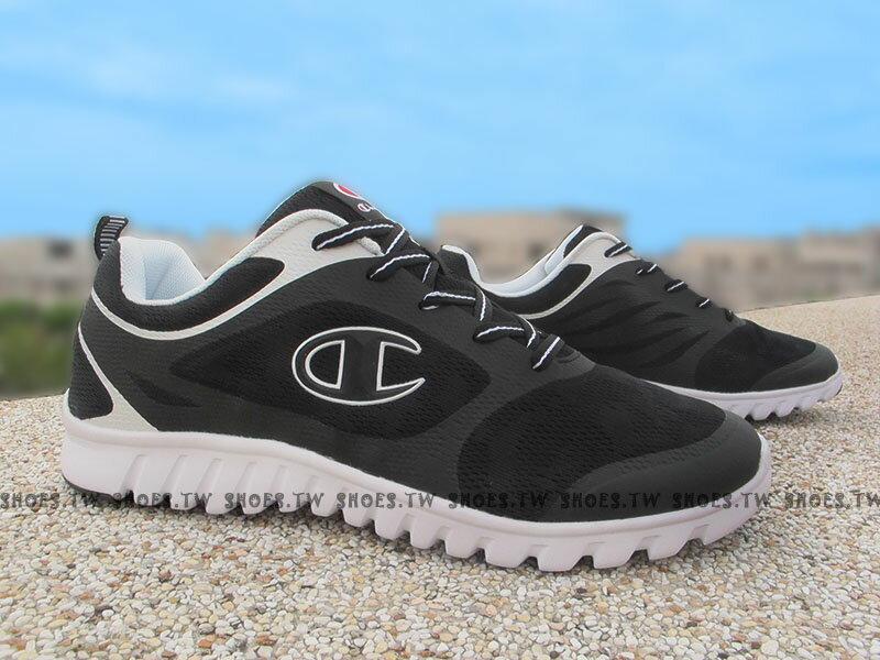 《限時特價990元》Shoestw【631210214】Champion 慢跑鞋 UrbanRun 黑白 網布 男生