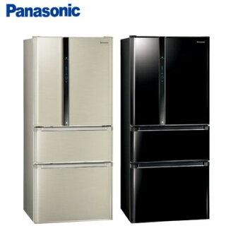 『Panasonic』 ☆ 國際牌 雙科技 610L四門變頻冰箱(NR-D618NHV/ NRD618NHV/光釉黑/香檳金) **免運費+基本安裝**