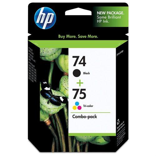 HP 74/75 Original Ink Cartridge - Combo Pack - Inkjet - Standard Yield - 170 Tri-color, 200 Black - Tri-color, Black - 2 / Pack 0