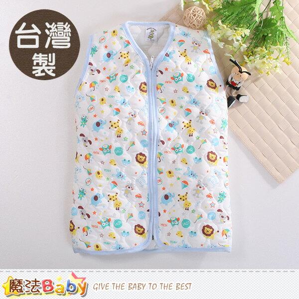 嬰幼兒睡袍 台灣製厚鋪棉保暖背心睡袍 魔法Baby~k60424