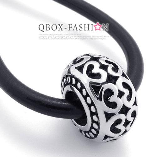 《 QBOX 》FASHION 飾品【W10020125】精緻幸運珠愛心圖騰316L鈦鋼墬子項鍊