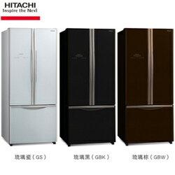HITACHI 日立 421L 變頻3門琉璃系列電冰箱 RG430