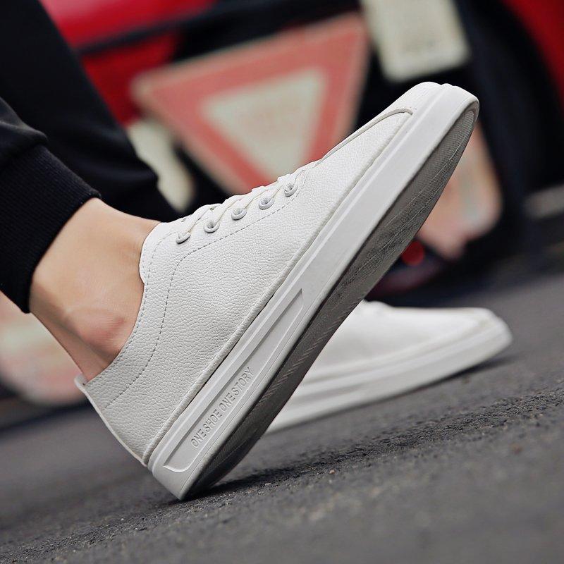 FINDSENSE品牌 四季款 新款 日本 男 高品質 文藝 清新 小白鞋 舒適透氣 耐磨橡膠底 板鞋 休閒鞋 潮流鞋子