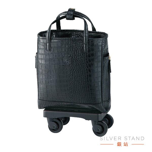 【銀站】日本SWANY奢華行李箱助行袋登機箱簡報出差購物旅遊