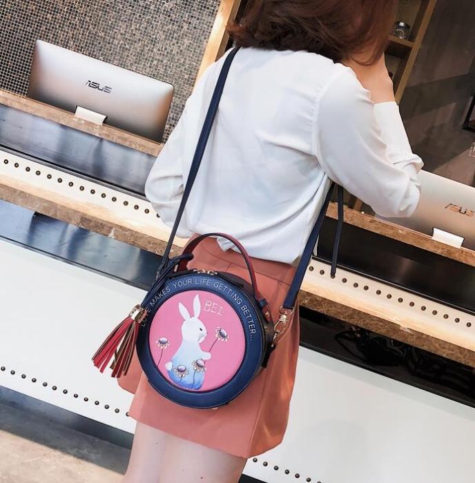 兔子手提包女 小包包女 斜挎女包 時尚迷你手提包包女 女款可愛小圓包 女士單肩包 韓版百搭女包