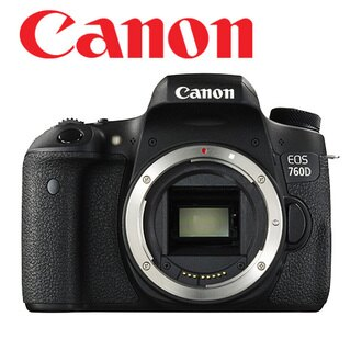 Canon 760D body 不含鏡頭 【送 32G+清潔組+保護貼、申請送收藏家CN-25防潮箱】。 彩虹公司貨