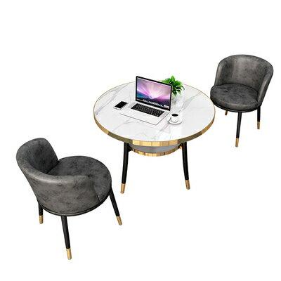 接待洽談桌輕奢洽談桌椅組合簡約個性休閒售樓處接待會客休息區北歐小圓餐桌『DD2239』 5