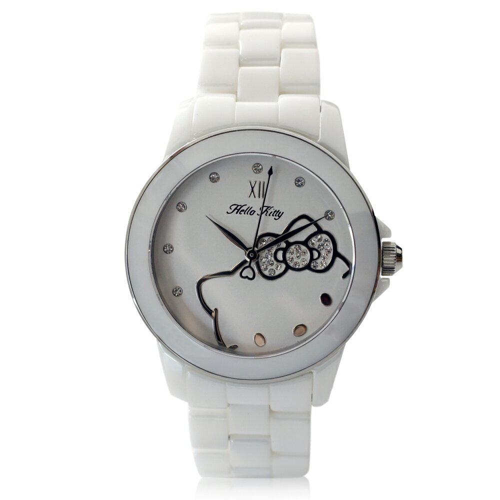Hello Kitty LK673 三麗鷗正版授權 粉嫩色系晶鑽陶瓷石英腕錶 2