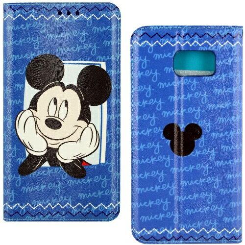 【Disney】Samsung Galaxy S6 哈囉系列 隱磁側掀皮套-米奇