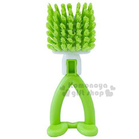 〔小禮堂〕日製造型清潔萬用刷 《綠.方形》可愛站立造型設計