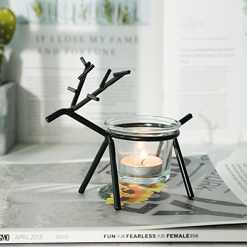 ins北歐浪漫燭光晚餐蠟燭臺簡約現代家用家居裝飾少女心桌面擺件