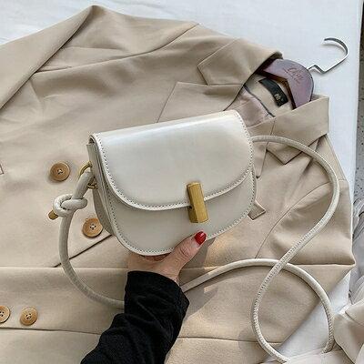 馬鞍包 秋冬復古單肩小包包女2020流行新款潮時尚百搭洋氣斜背質感馬鞍包