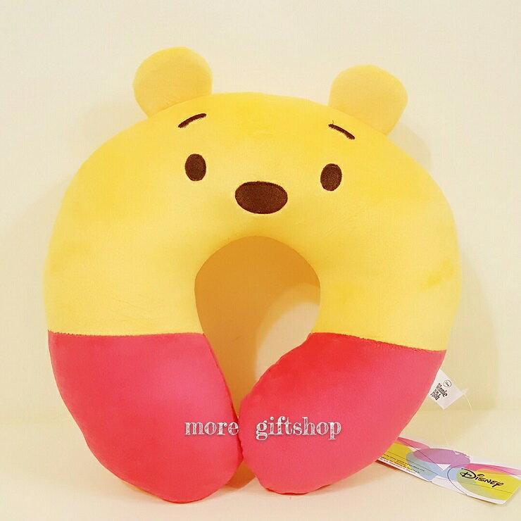【more 禮品小舖】迪士尼小熊維尼頸枕、維尼枕頭   絨毛娃娃 玩偶