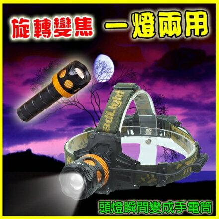 美國CREE魚眼透境兩用超強光 頭燈 手電筒 2400~3500流明 自行車 腳踏車 釣魚