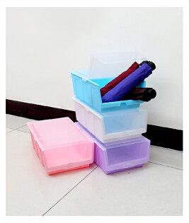 【aifelife】掀蓋式鞋盒半透明鞋盒彩色收納箱置物箱置物盒質感收納方便收納整理掀蓋收納鞋子布鞋慢跑鞋贈品禮品