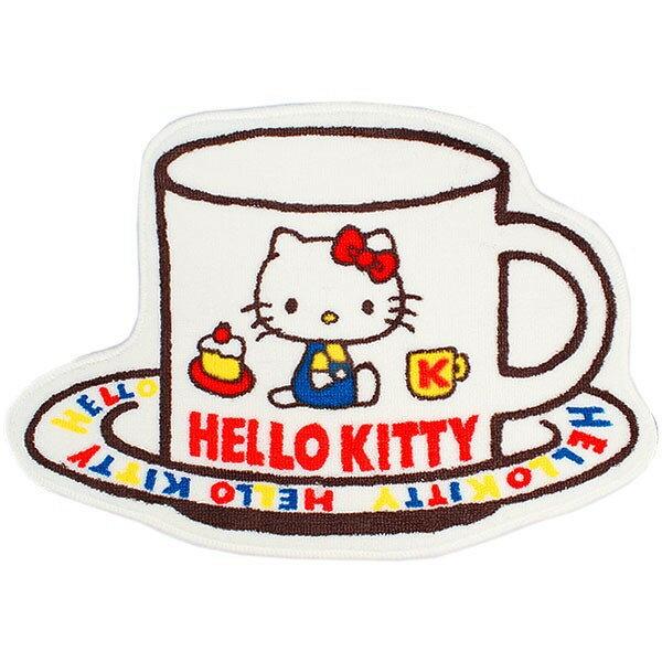 X射線【C580165】Hello Kitty 造型地墊45x64cm-懷舊,寢室用品/床/床被/涼爽/夏天/環保節能/地墊/腳踏墊/床墊