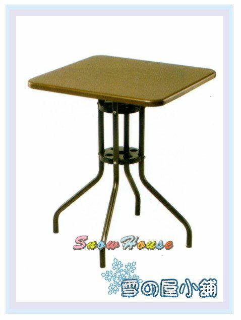 ╭☆雪之屋居家生活館☆╯AA994-01 方型彩鋼休閒桌(無傘洞/咖啡色/烤漆)/方桌/茶几桌/置物桌/60公分寬
