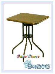 ╭☆雪之屋居家生活館☆╯R982-01  方型彩鋼休閒桌(無傘洞/咖啡色/烤漆)/方桌/茶几桌/置物桌/60公分寬