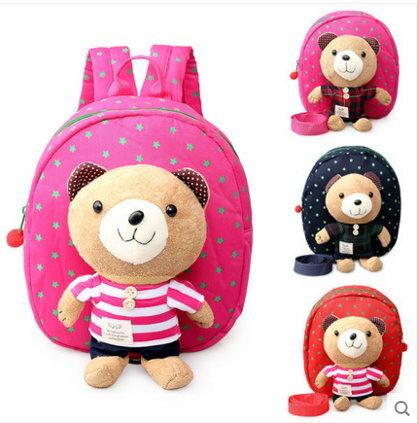 幼兒園小班中班1~3歲寶寶防走失背包兒童男女背包小書包包~可愛小熊