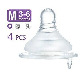 小獅王辛巴母乳記憶超柔防脹氣奶嘴-寬口圓孔嬰兒(M)-4入-S6336