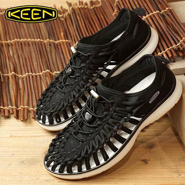 《台南悠活運動家》KEENUNEEK女織帶涼鞋黑白1017055