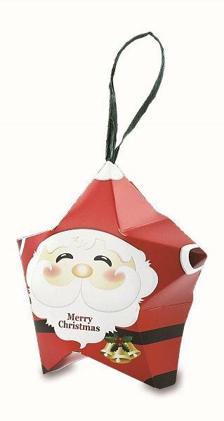 【基本量】聖誕系列/星形造型盒/聖誕老公公/大/ 100個