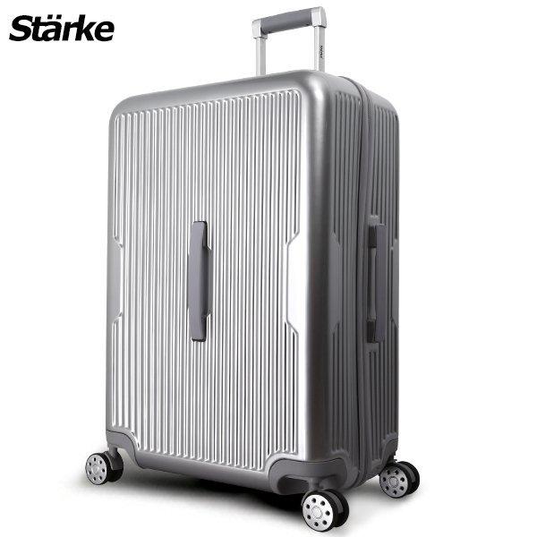 E&J【008016-01】starke萊茵系列28吋PC+ABS耐撞TSA海關鎖拉鏈行李箱旅行箱-銀色