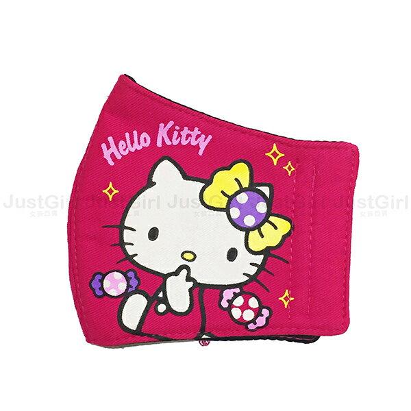 HELLO KITTY 兒童口罩 立體口罩 布口罩 39元 居家 台灣製造 * JustGirl *