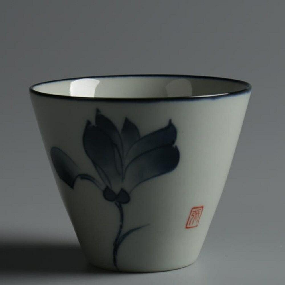 個人單杯陶瓷茶具仿古青花瓷品茗杯小茶碗茶杯日式茶具 極客玩家