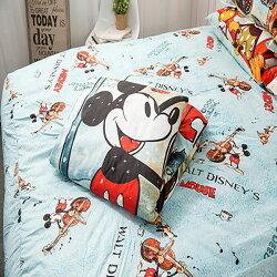 【名流寢飾家居館】迪士尼米奇.冬季協奏曲.加大雙人床包組