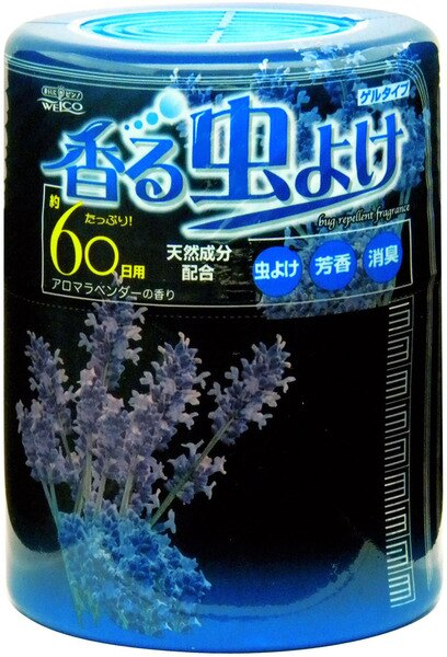 日本Welco天然防蟲芳香劑 250g(藍-薰衣草)