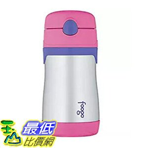 [106 美國直購] THERMOS FOOGO Vacuum Insulated Stainless Steel 10-Ounce Straw Bottle, Pink/Purple