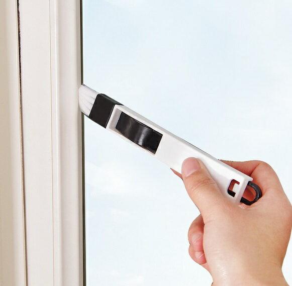 PS Mall 窗戶窗槽凹槽清潔刷 帶簸箕縫隙刷【J1519】 2