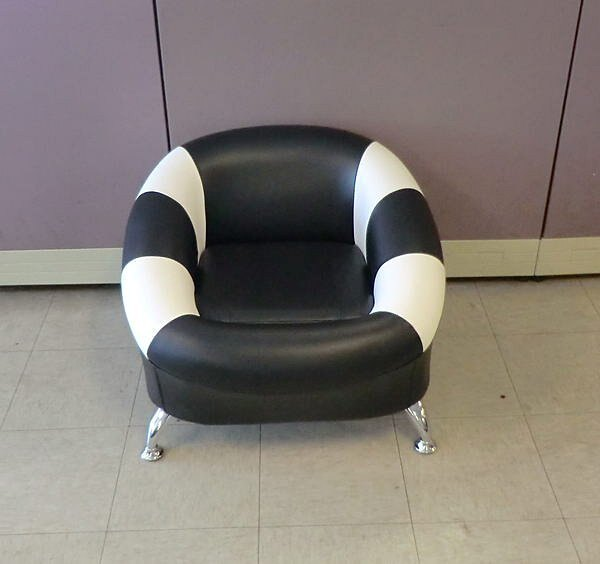 【尚品家具】115-01 甜甜圈乳膠皮單人小沙發/兒童椅~多色可選