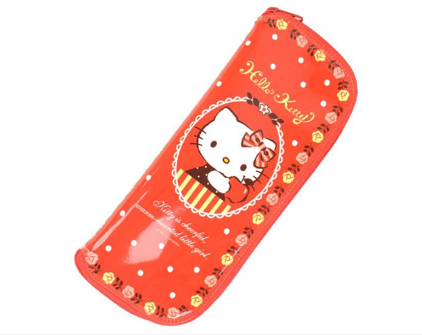 X射線【C059750】Hello Kitty 餐具袋,餐具袋/筷匙袋/筷袋/餐具組/環保餐具/餐具收納袋/筷子袋