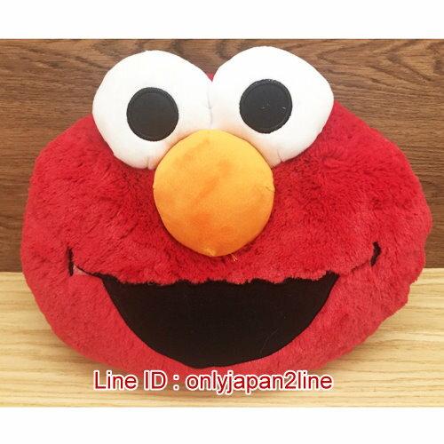 【真愛日本】17011600001絨毛頭枕-20吋ELMO臉    艾摩 芝麻街 抱枕 枕頭 靠枕 娃娃 生活用品