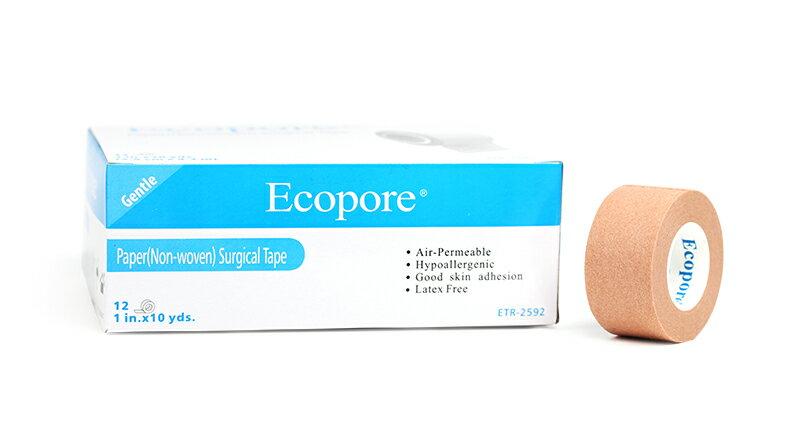 【醫康生活家】Ecopore透氣膠帶 膚色 1吋 (12入/盒)