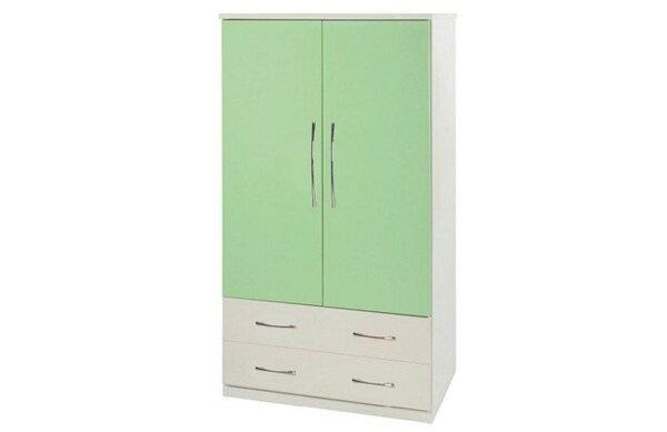 【石川家居】825-03(綠白色)衣櫥(CT-106)#訂製預購款式#環保塑鋼P無毒防霉易清潔