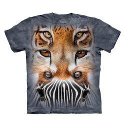 【摩達客】美國進口The Mountain動物之眼(預購) 純棉環保短袖T恤