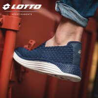 【巷子屋】義大利第一品牌-LOTTO樂得 男款WOVEN 編織健步鞋 [6036] 藍 超值價$990 0