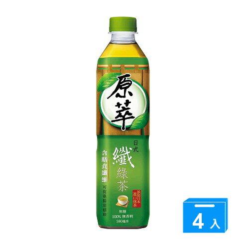 原萃日式纖綠茶580ml*4入【愛買】