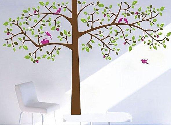 BO雜貨:BO雜貨【YP1555】創意可移動壁貼牆貼背景貼磁磚貼壁貼樹時尚組合壁貼浪漫樹