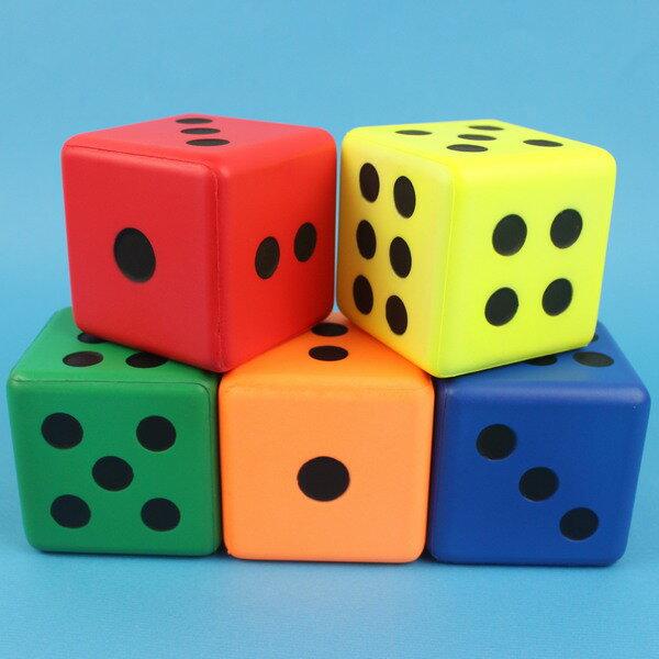 PU骰子 Pu骰子 8cm 彩色安全骰子 台灣製造/一個入 促[#80]~偉 Pu色子 減壓骰子 樂樂安全骰子