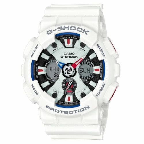 CASIO G~SHOCK 超重機帥氣三眼 腕錶 GA~120TR~7ADR