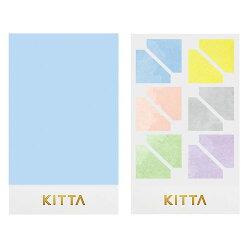 【日本KITTA】 隨身攜帶手帳貼Seal KITD004 樸素角框 / 本