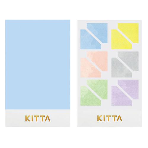 【日本KITTA】隨身攜帶手帳貼SealKITD004樸素角框本